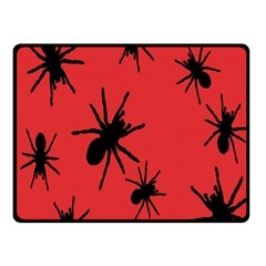 Illustration With Spiders Fleece Blanket (Small)
