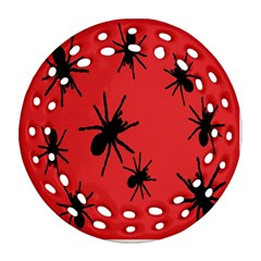 Illustration With Spiders Round Filigree Ornament (Two Sides)