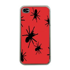 Illustration With Spiders Apple iPhone 4 Case (Clear)