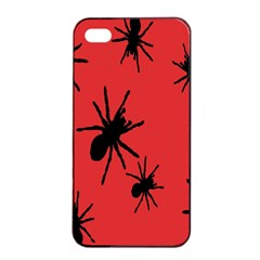 Illustration With Spiders Apple iPhone 4/4s Seamless Case (Black)