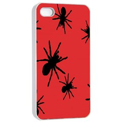 Illustration With Spiders Apple iPhone 4/4s Seamless Case (White)