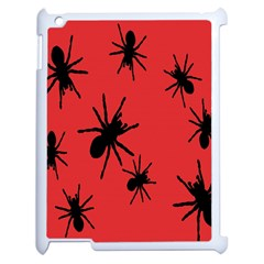 Illustration With Spiders Apple iPad 2 Case (White)