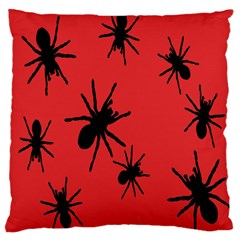 Illustration With Spiders Large Cushion Case (two Sides)