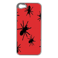 Illustration With Spiders Apple iPhone 5 Case (Silver)
