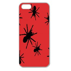 Illustration With Spiders Apple Seamless Iphone 5 Case (clear)
