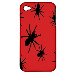 Illustration With Spiders Apple Iphone 4/4s Hardshell Case (pc+silicone)