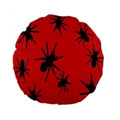 Illustration With Spiders Standard 15  Premium Round Cushions
