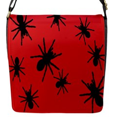Illustration With Spiders Flap Messenger Bag (s)