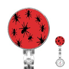 Illustration With Spiders Stainless Steel Nurses Watch