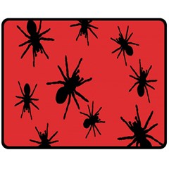 Illustration With Spiders Double Sided Fleece Blanket (medium)