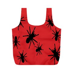 Illustration With Spiders Full Print Recycle Bags (M)