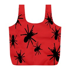 Illustration With Spiders Full Print Recycle Bags (L)