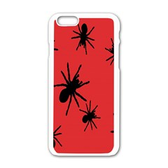 Illustration With Spiders Apple iPhone 6/6S White Enamel Case