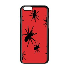 Illustration With Spiders Apple iPhone 6/6S Black Enamel Case