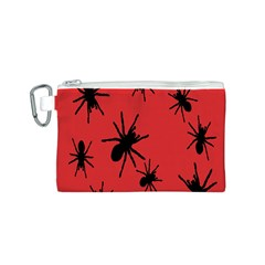Illustration With Spiders Canvas Cosmetic Bag (S)