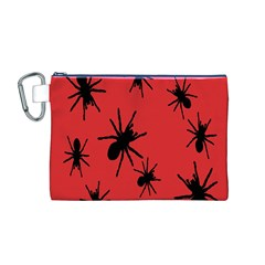 Illustration With Spiders Canvas Cosmetic Bag (m)