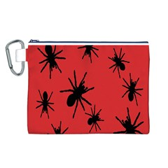 Illustration With Spiders Canvas Cosmetic Bag (l)
