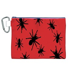 Illustration With Spiders Canvas Cosmetic Bag (XL)