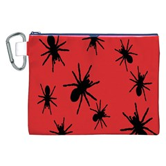 Illustration With Spiders Canvas Cosmetic Bag (XXL)