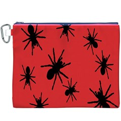 Illustration With Spiders Canvas Cosmetic Bag (xxxl)