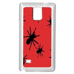 Illustration With Spiders Samsung Galaxy Note 4 Case (White)