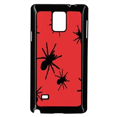 Illustration With Spiders Samsung Galaxy Note 4 Case (Black)