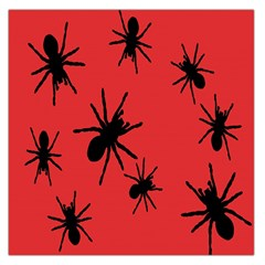 Illustration With Spiders Large Satin Scarf (Square)