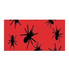 Illustration With Spiders Satin Wrap
