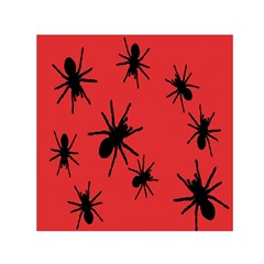 Illustration With Spiders Small Satin Scarf (square)