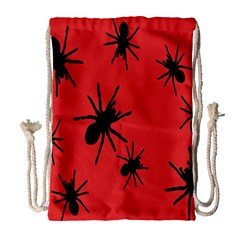 Illustration With Spiders Drawstring Bag (Large)