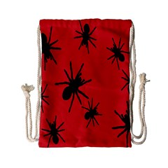 Illustration With Spiders Drawstring Bag (Small)
