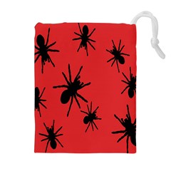 Illustration With Spiders Drawstring Pouches (Extra Large)