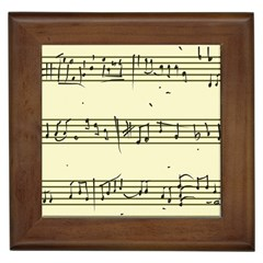 Music Notes On A Color Background Framed Tiles