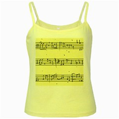 Music Notes On A Color Background Yellow Spaghetti Tank