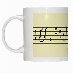 Music Notes On A Color Background White Mugs