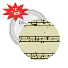 Music Notes On A Color Background 2 25  Buttons (10 Pack)