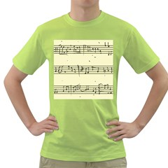 Music Notes On A Color Background Green T-Shirt