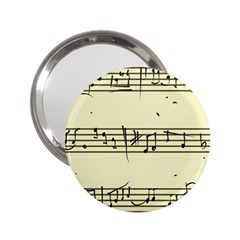 Music Notes On A Color Background 2 25  Handbag Mirrors