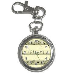 Music Notes On A Color Background Key Chain Watches
