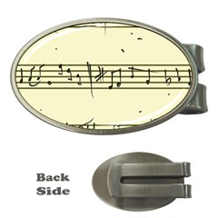 Music Notes On A Color Background Money Clips (oval)