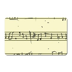 Music Notes On A Color Background Magnet (rectangular)