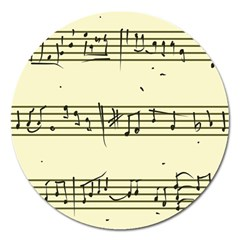 Music Notes On A Color Background Magnet 5  (Round)