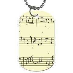Music Notes On A Color Background Dog Tag (one Side)