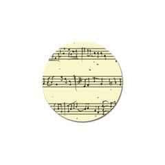 Music Notes On A Color Background Golf Ball Marker
