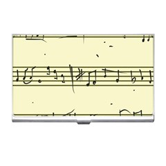 Music Notes On A Color Background Business Card Holders
