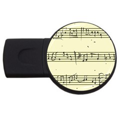 Music Notes On A Color Background USB Flash Drive Round (1 GB)