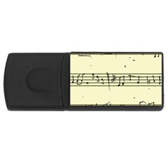Music Notes On A Color Background USB Flash Drive Rectangular (1 GB)