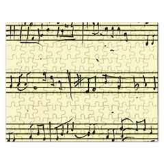 Music Notes On A Color Background Rectangular Jigsaw Puzzl