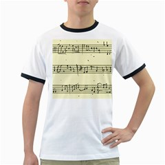Music Notes On A Color Background Ringer T-Shirts