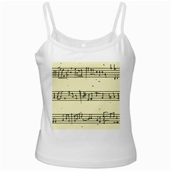 Music Notes On A Color Background Ladies Camisoles